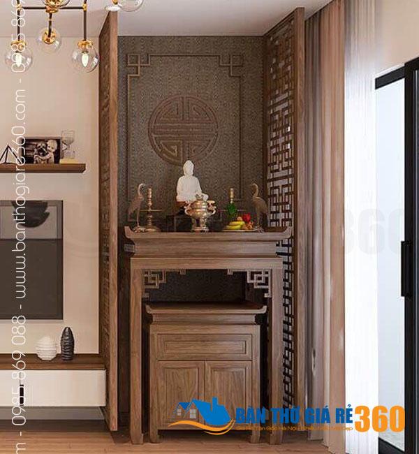 Bàn thờ treo tường gỗ sồi đẹp giá rẻ tại Huyện Bình Chánh