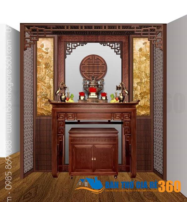 Bàn thờ treo gỗ Sồi tạ Huyện Hóc Môn HCM – vẻ đẹp vượt thời gian