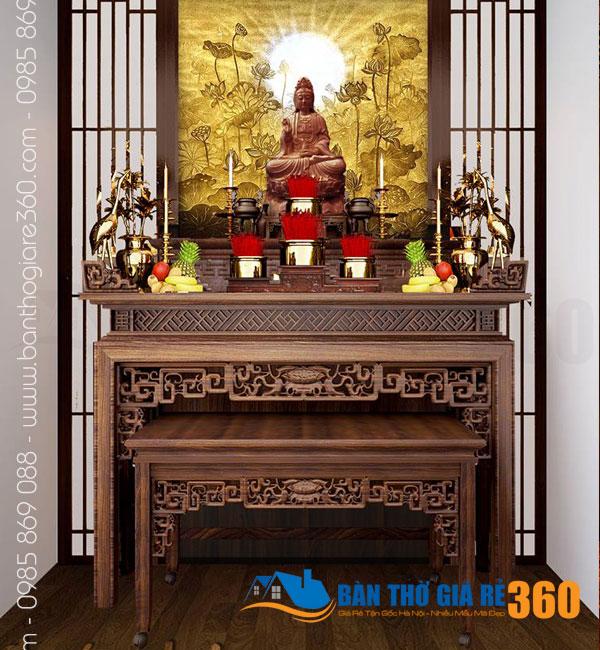 Bàn thờ đứng gỗ Gụ cao cấp tại Huyện Cần Giờ Giá Rẻ nhất!