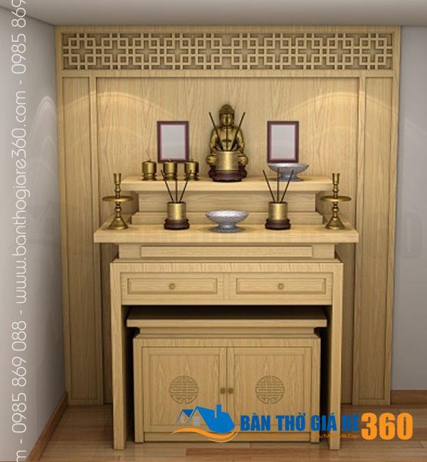101 mẫu bàn thờ đứng, bàn thờ treo, tủ thờ đẹp tại Quận 3 HCM