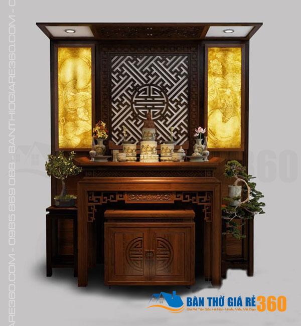 Mẫu bàn thờ đứng chung cư tại Điện Biên, Ba Đình Hà Nội