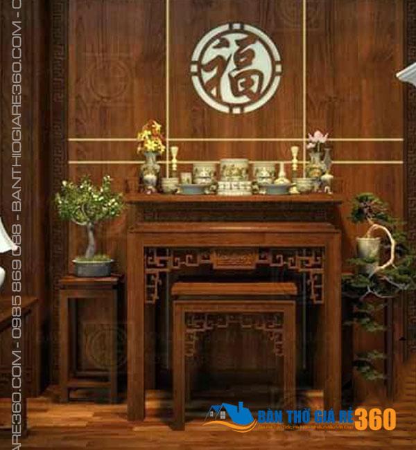 Mẫu bàn thờ đứng chung cư đẹp hiện đại tại Giảng Võ Hà Nội