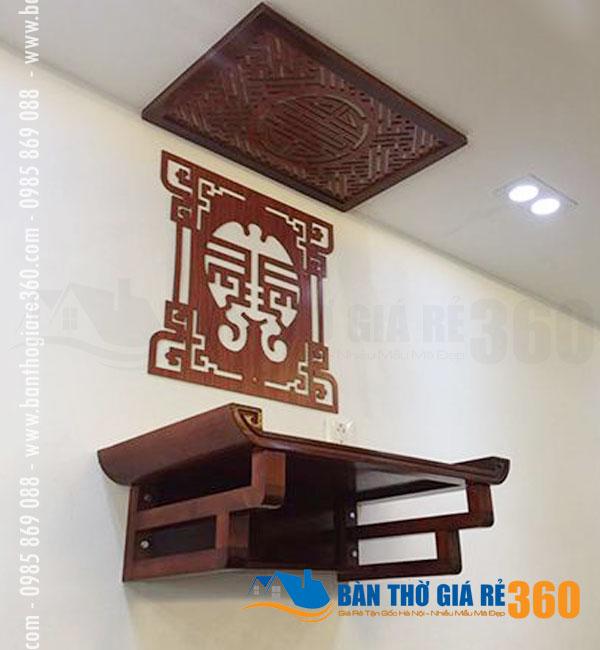 Bàn Thờ Treo Tường Đẹp Dáng Triện Gỗ Sồi Quận Hà Đông Hà Nội