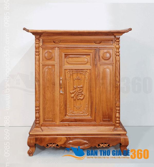 Tủ thờ gỗ Gõ Đỏ mẫu Chữ Phúc ngang 107cm