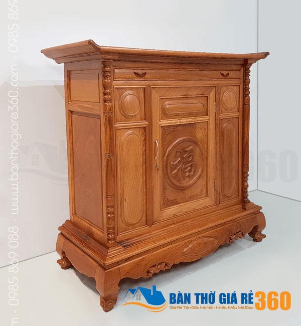 Tủ thờ gỗ Gõ Đỏ mẫu Chữ Phúc ngang 127cm